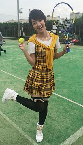 テニス姿の剛力彩芽さん